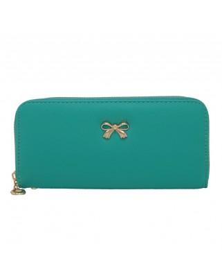 Γυναικείο πορτοφόλι από saffiano leather πράσινο