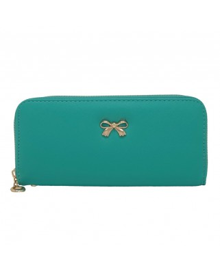 Saffiano Bow purse green