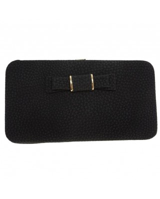 Bow purse black