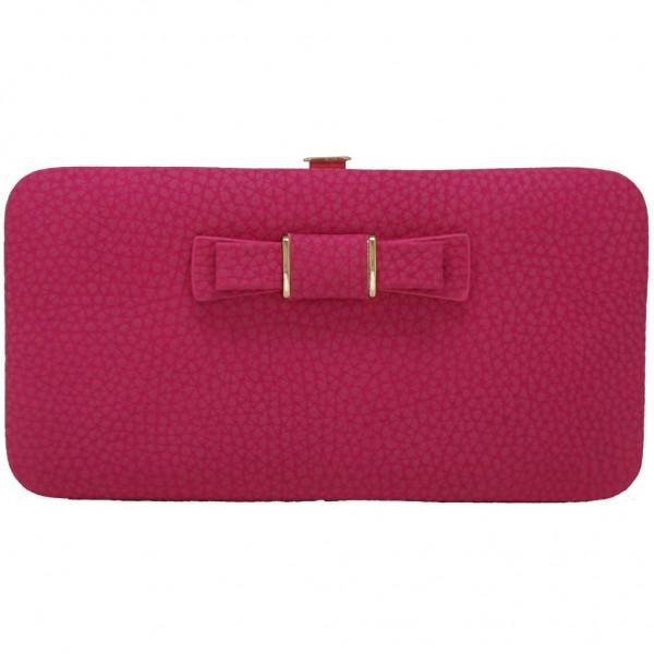 Bow purse fuchsia