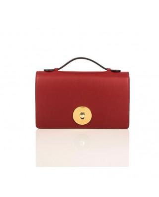 Δερμάτινη τσάντα ώμου Melia κόκκινη