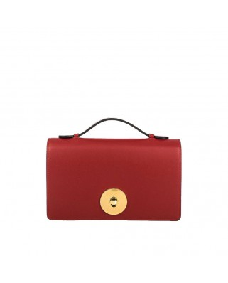 Melia Leather Handbag Red