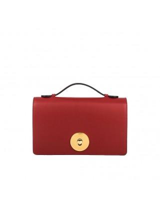 Melia Leather Handbag Red