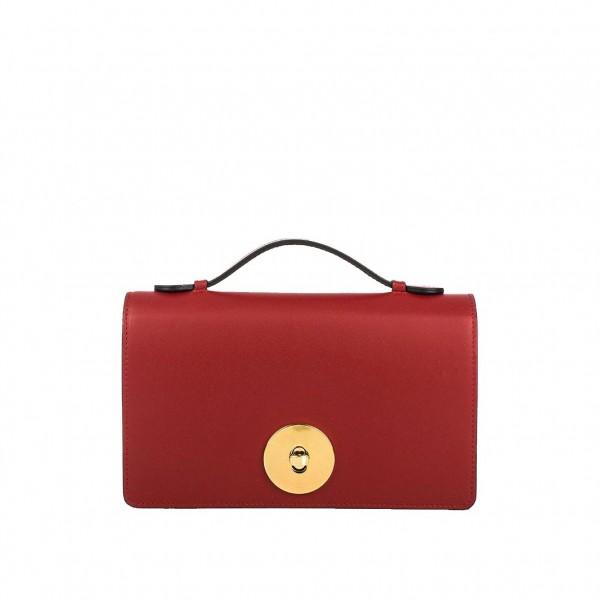 df83c63018 Δερμάτινη τσάντα ώμου Melia κόκκινη - Sisbags.gr