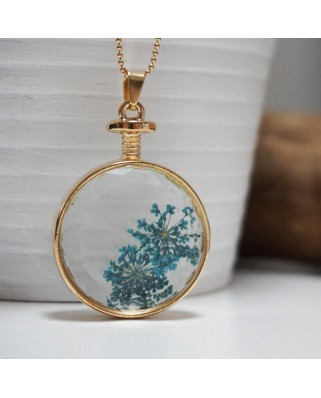 Flower Pendant Blue