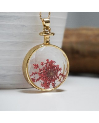 Flower Pendant Red