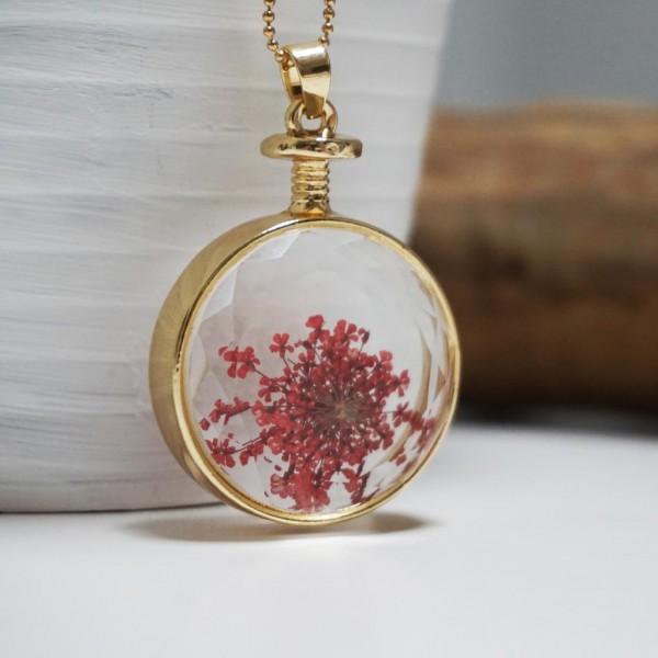 Flower Pendant Red