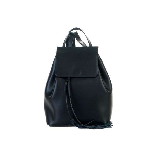 Angie Leather Backpack Black