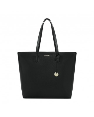 Clementine saffiano black leather bag