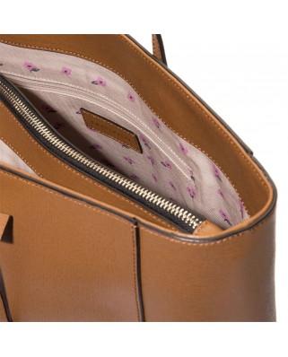 Δερμάτινη τσάντα ώμου Clementine από saffiano δέρμα