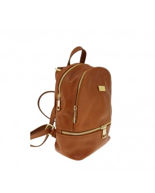 Amelie Leather Backpack tabac