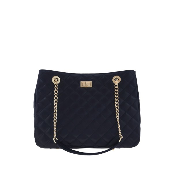 Δερμάτινη τσάντα ώμου Christina μαύρη - Sisbags.gr ff8a02d76de