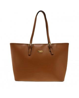 Eloisa Leather Shoulder Bag Tabac