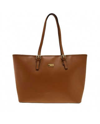 Eloisa Leather Shoulder Bag Tabac