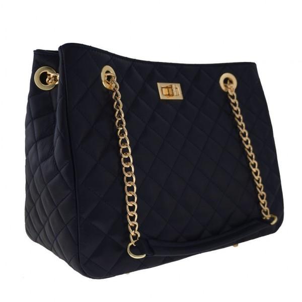 c0fc2c40ef Δερμάτινη τσάντα ώμου Christina μαύρη - Sisbags.gr