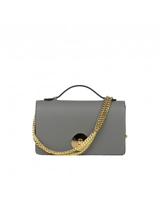 Melia Leather Handbag Grey