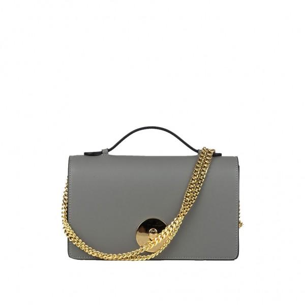 Melia Leather Handbag Grey