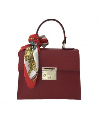Dilia Leather Handbag Red