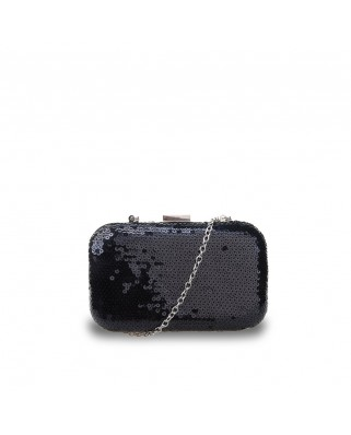 Adeline Box Clutch Black