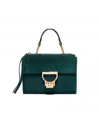 Arlettis Mini suede green leather