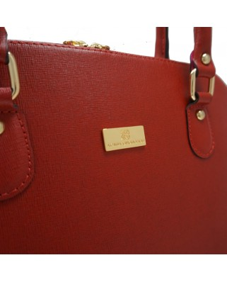 Serafina Leather Handbag Red