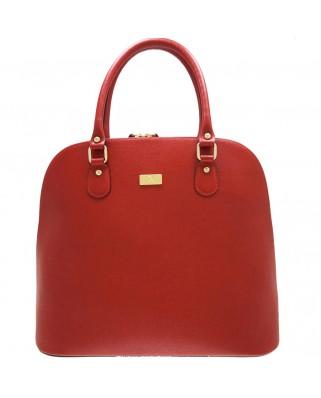 Δερμάτινη τσάντα ώμου - χειρός Serafina κόκκινη