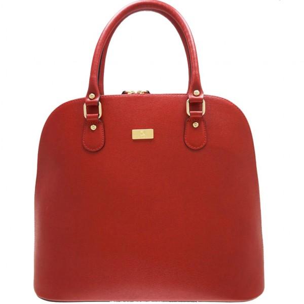 Serafina Leather Handbag Red