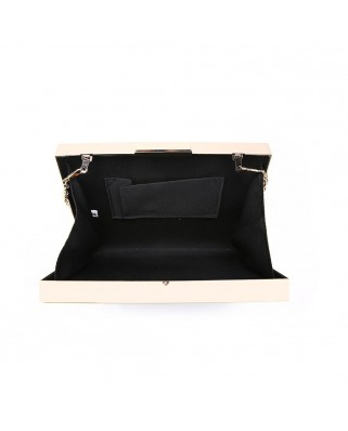 Simple Frame Clutch Black