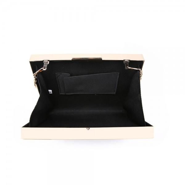 Simple Frame Clutch Black