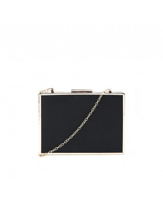 Βραδινό τσαντάκι Simple Frame Clutch μαύρο